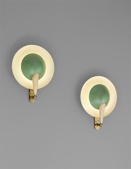 Pair of rare adjustable wall lights, model no. B. 4917