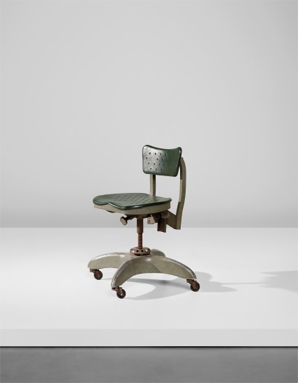 Swivel chair, model no. 1938, designed for the Montecatini S.A. offices, Milan