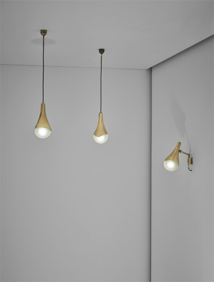 Adjustable wall light and pair of ceiling lights, model no. 1849