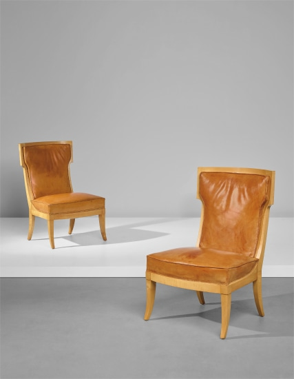 Pair Of Chairs, Designed For The U0027Jean Labordeu0027 Ocean Liner