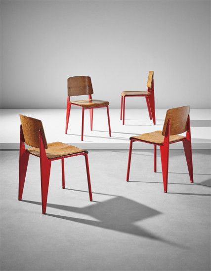 Rare set of four chairs, model no. 4