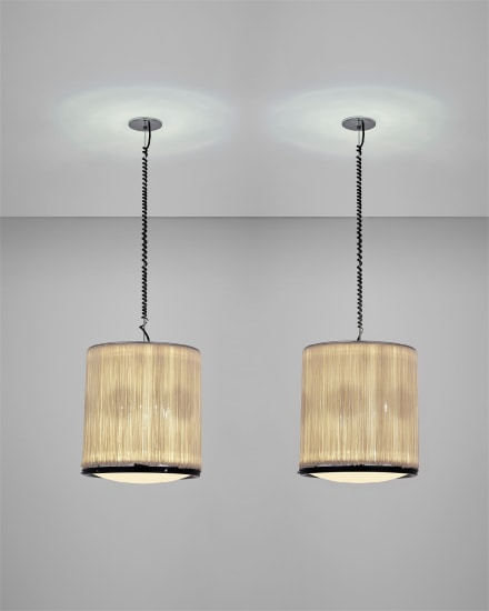 Pair of rare ceiling lights, model no. 597/S