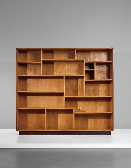 Unique bookcase, designed for Enrichetta Ritter, Milan