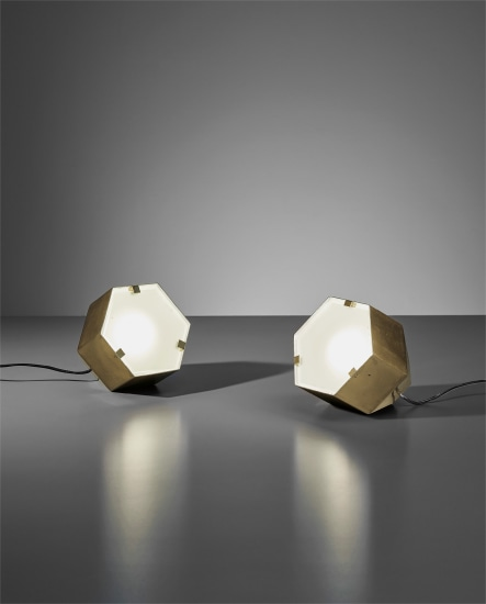 Pair of table lamps, model no. 2022