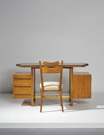 Desk and chair, designed for a private commission, Milan