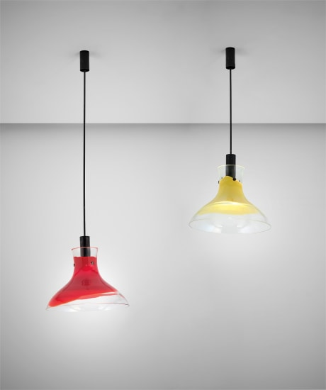 Pair of ceiling lights, model no. 802.6
