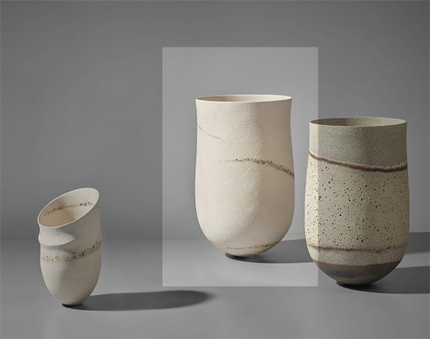 'Pale, granite traces' pot