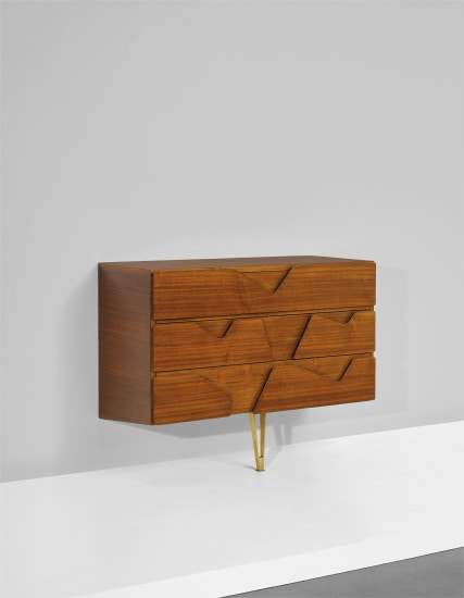 Wall-mounted chest of drawers, designed for the Hotel Royal, Naples