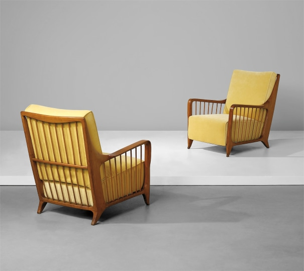 Pair of armchairs, model no. 118/F