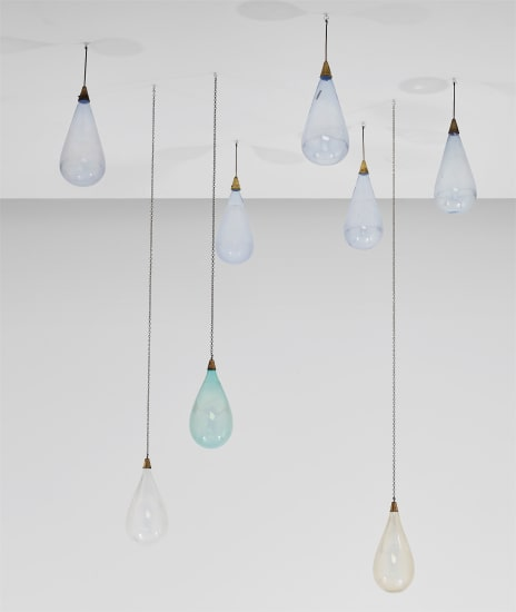Group of eight ceiling droplets, designed for the Alba Theatre, Alba
