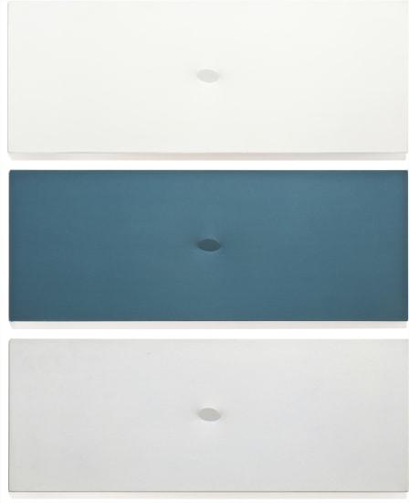 Trittico bianco-blu-azzuro