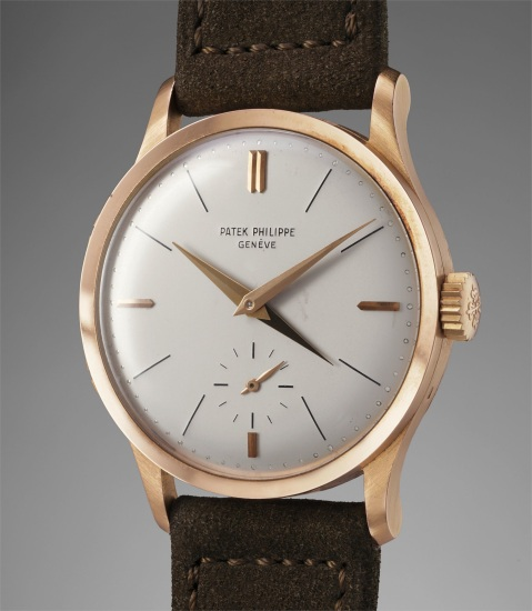 7fdc0e0c67a Patek Philippe - A highly rare and remarkably crisp pink gold dual ...
