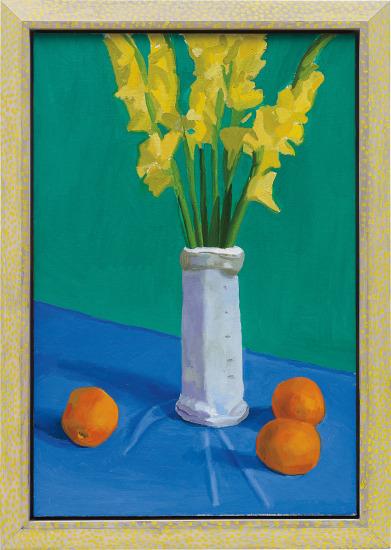 Three Oranges with a Vase