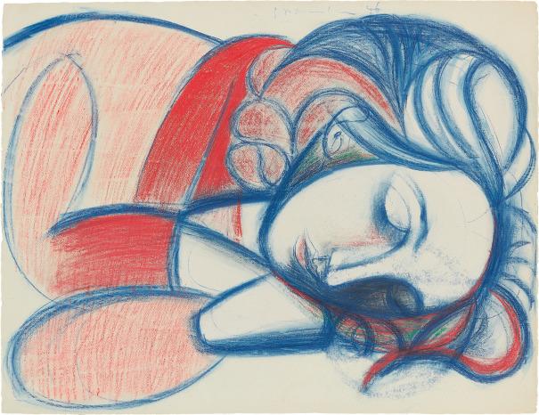 Portrait de femme endormie. III