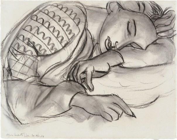 Jeune fille dormant à la blouse roumaine