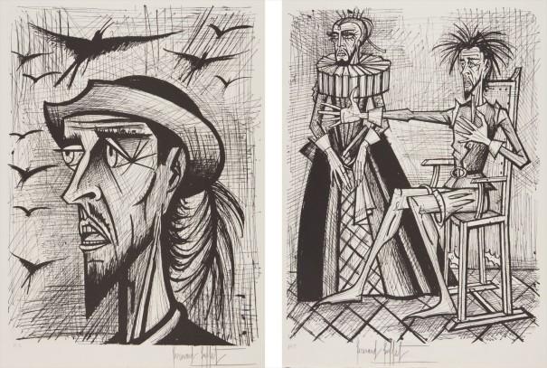 Don Quixote avec chapeau (Don Quixote with Hat); and Don Quixote et la Duena (Don Quixote and the Duena), from Don Quixote