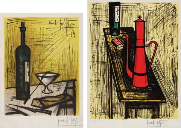 Affiche d'Exposition - Le pain et le vin (Bread and Wine), by Charles Sorlier; and La cafetière rouge (The Red Coffee-Maker)