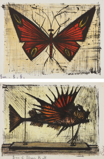 Le papillon rouge et jaune (Red and Yellow Butterfly); and La rascasse (Scorpion Fish)