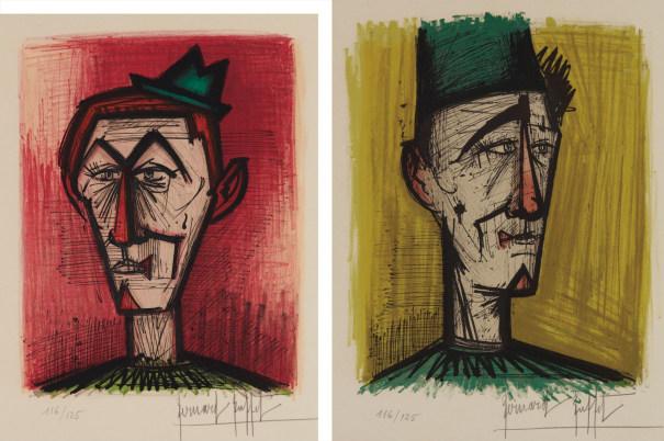 Le clown au fond rouge (The Red Clown); and Le clown JoJo (The Clown JoJo)