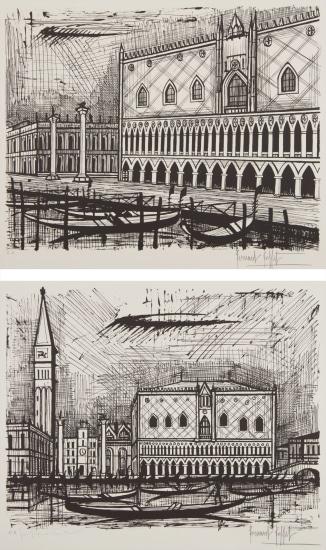 Le Palais des Doges (The Doge's Palace); and Le campanile et le Palais des Doges (The Bell Tower and Doge's Palace), from Venise (Venice)