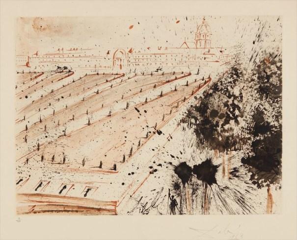 Esplanade des Invalides, plate 2 from the Paris Series, by Lluís Bracons