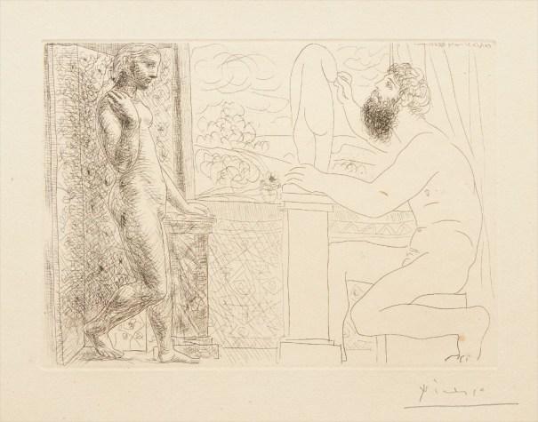 Sculpteur et son modèle devant une fenêtre (Sculptor and his Model in Front of a Window), plate 59 from La suite Vollard