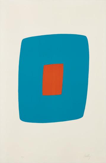 Light Blue with Orange (Bleu Clair avec Orange),  from the Suite of Twenty-Seven Color Lithographs