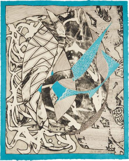 Swan Engraving Blue, from Swan Engravings