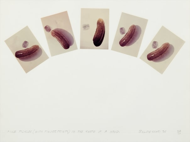Five Pickles (With Fingerprints in the Shape of a Hand), from Artists & Photographers