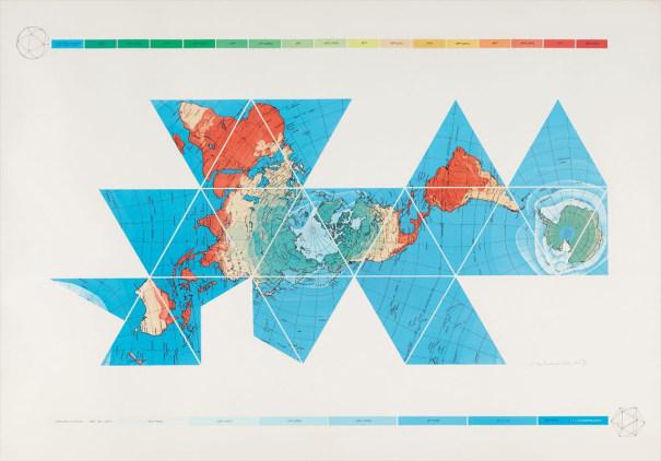 Dymaxion Air - Ocean World Map