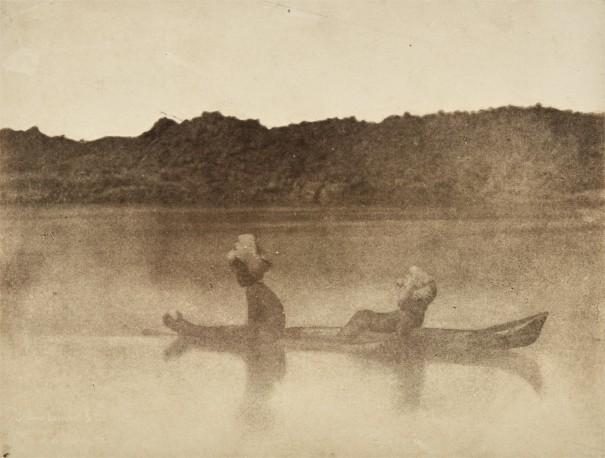 Nubiens traversant le Nil