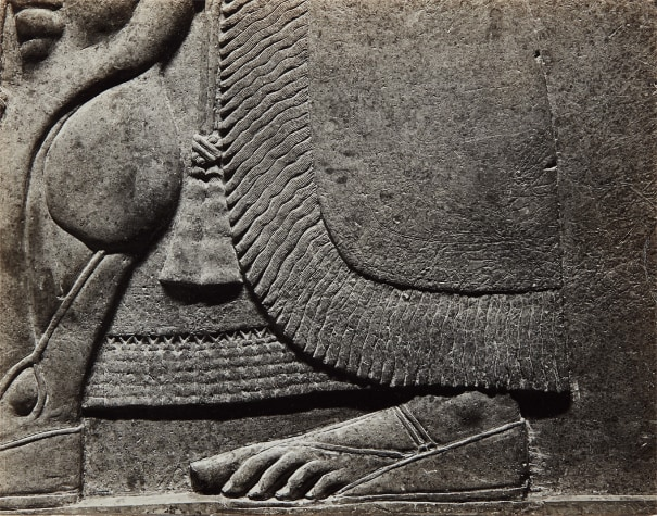 Untitled (Neo-Assyrian relief panel from the collection of The Met, detail)
