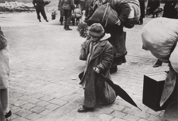 A Soviet child who was deported with his parents, returning to his homeland, Transit Camp, Dessau, Germany