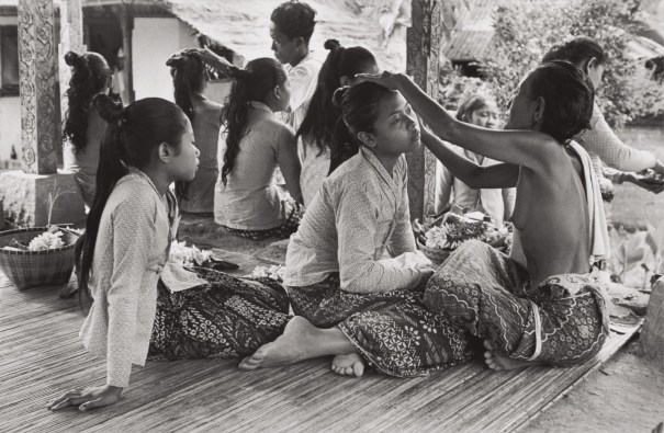 Preparations for the Baris Dance, Ubud, Bali, Indonesia