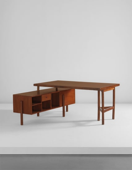 """""""Writing table for junior officers,"""" model no. PJ-BU-14-A, from the Secrétariat and administrative buildings, Chandigarh"""