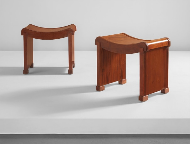 Pair of tabourets, model no. MT 1015