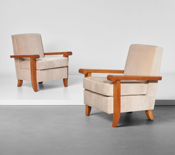 Pair of armchairs, from the Palais des Consuls, Rouen