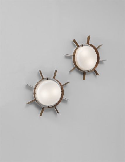 """Pair of """"Il Sole"""" wall lights"""