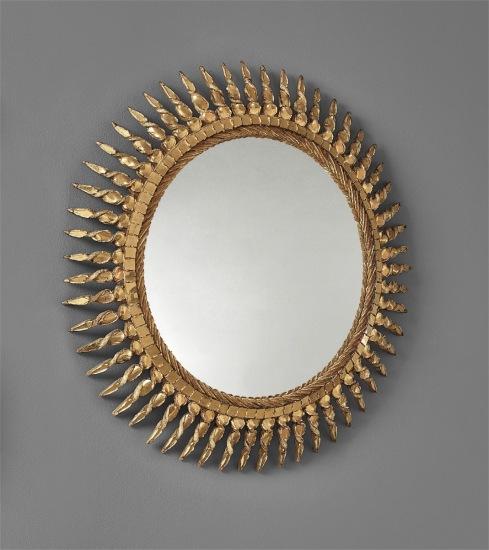 """Soleil torsadé"" mirror"