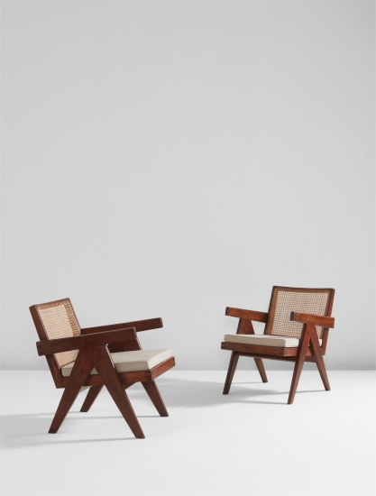 """Pair of """"Easy"""" armchairs, model no. PJ-SI-29-A, designed for the administrative buildings, Chandigarh"""
