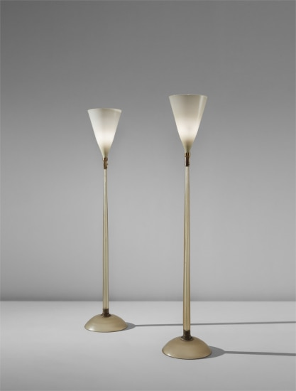 Pair of floor lamps, model no. 518