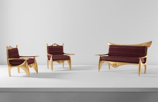 """Unisex"" canapé and pair of ""Polysex"" armchairs"