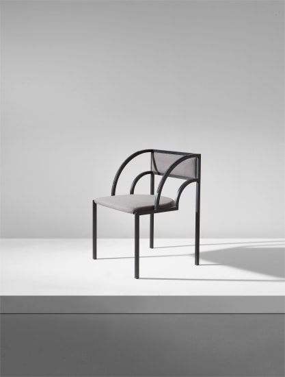 "Rare ""Chair C (Square Pipe Armchair),"" from the Lavina Yamagiwa Meeting Room"