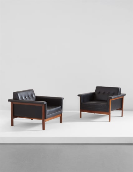 """Pair of """"Canada"""" armchairs"""