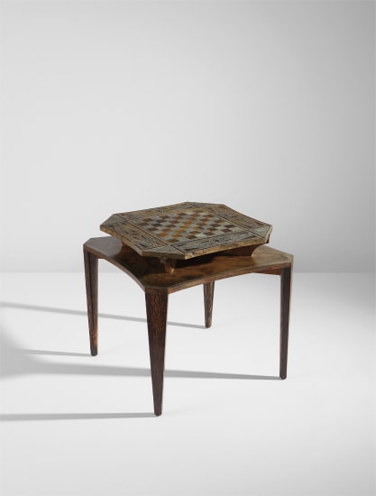 Rare games table with convertible chessboard top