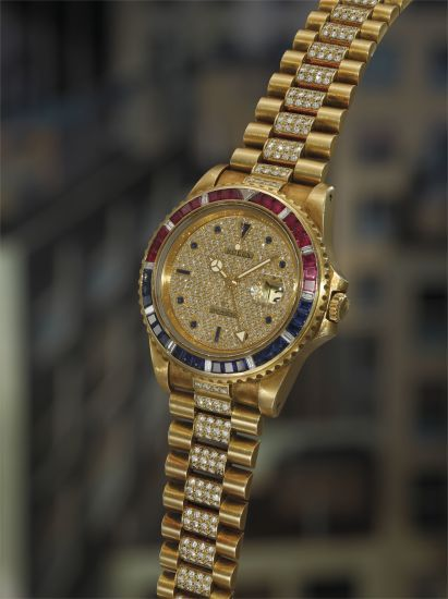 1cb002bbd40 Rolex - An extremely rare, important, and highly attractive yellow ...