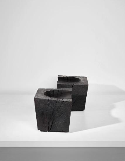 Unique pair of block seats