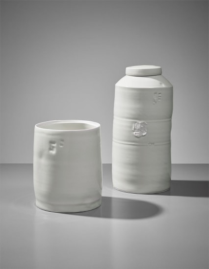 Edmund De Waal.Edmund De Waal Cylinder And Lidded Jar Circa 2004 Phillips