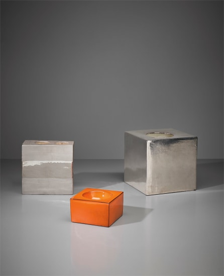 Set of three vases, model nos. 444, 585 and 587, from the 'Ceramiche a colaggio' series