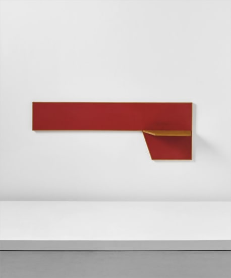 Wall-mounted shelf, designed for the public administration offices, Forlí, Italy